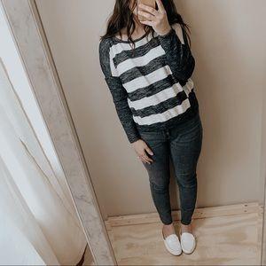 Loft minimal striped sweater